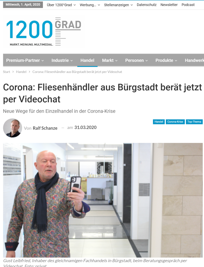 1200 GRAD über die Videochat-Initiative