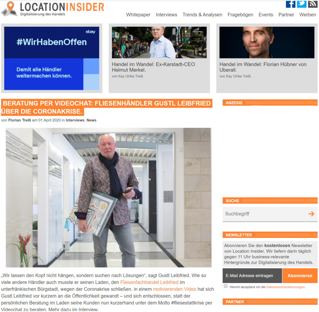 Leibfried bei Location Insider